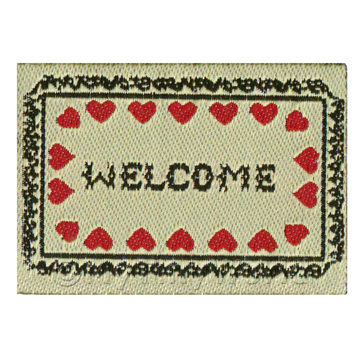 Dolls House Heart Welcome Mat (WM1)