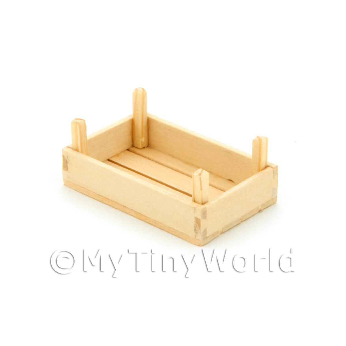 Dolls House Miniature Small Wood Vegetable Crate