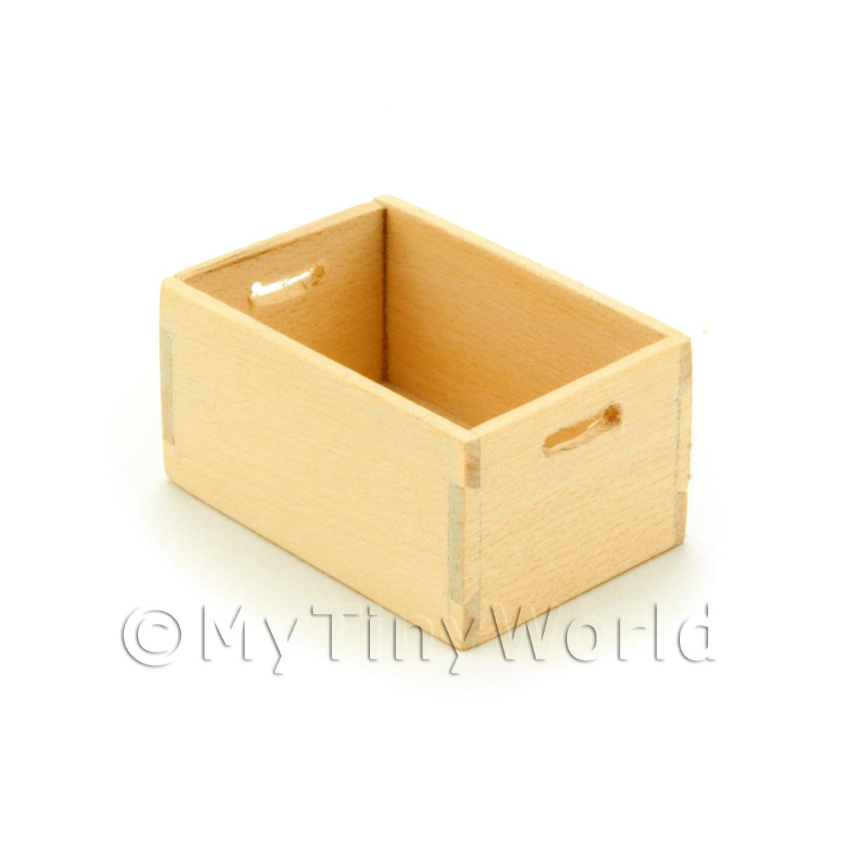 Dolls House Miniature White Wood Large Bottle Crate