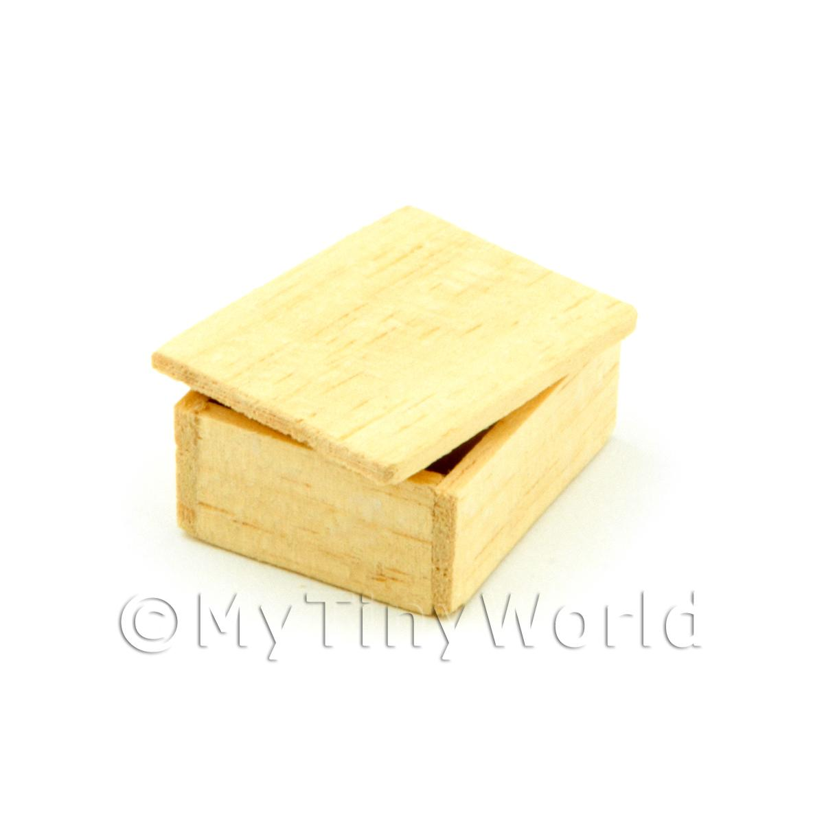 Dolls House Small Wood Shop Stock Box With Lid