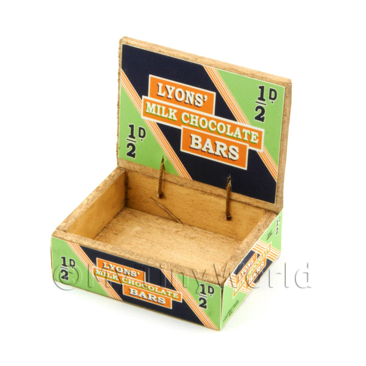 Dolls House Lyons Chocolate Bars Counter Display Box