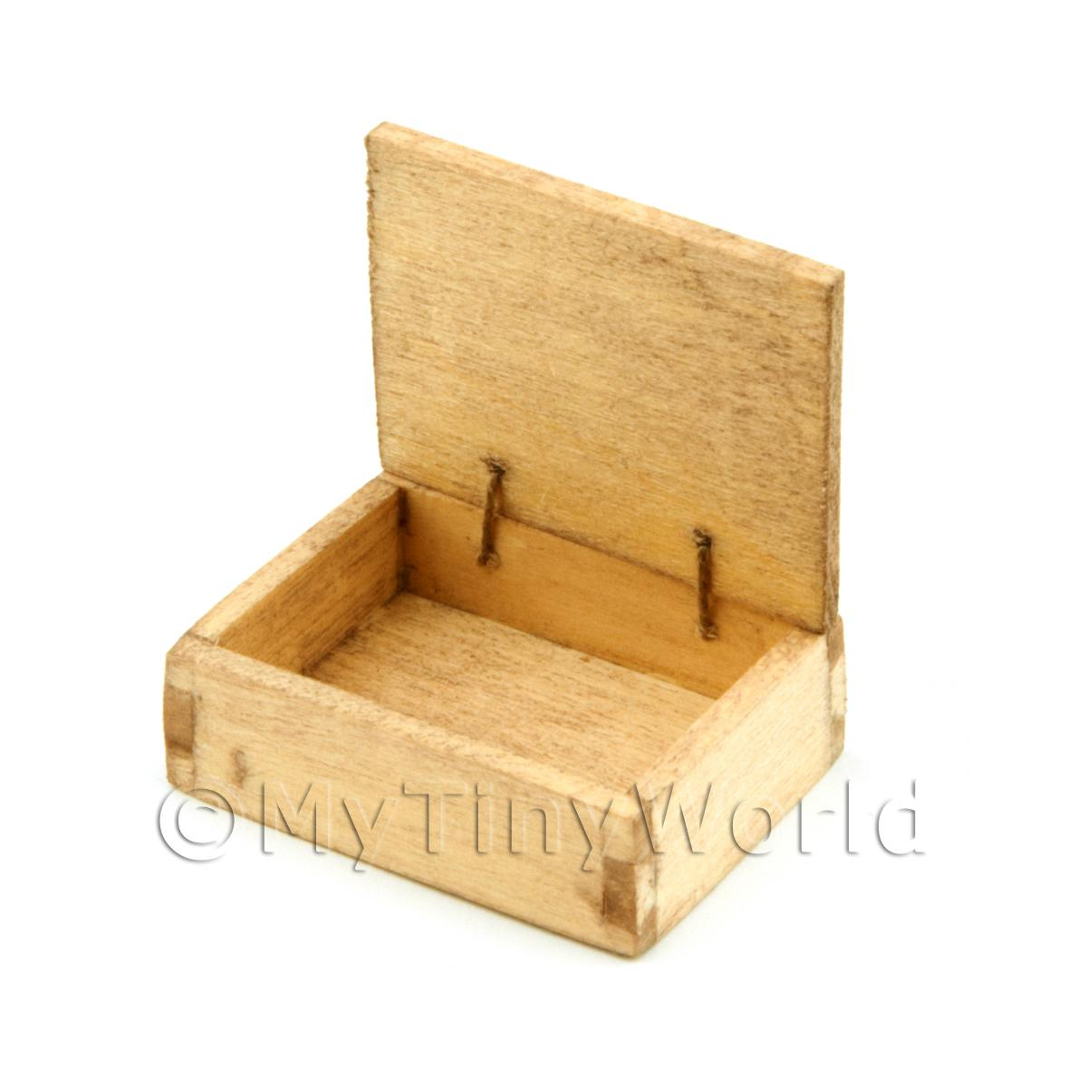 Dolls House Aged Wood Shop Counter Display Box
