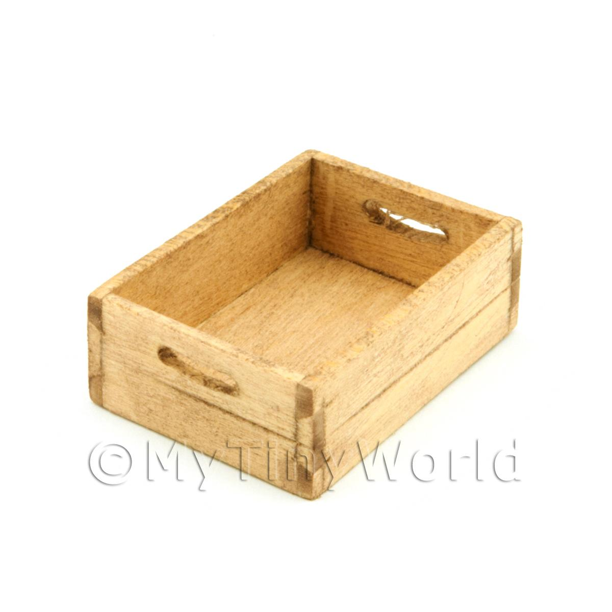 Wood bottle crates dolls house miniature mytinyworld for Craft crates
