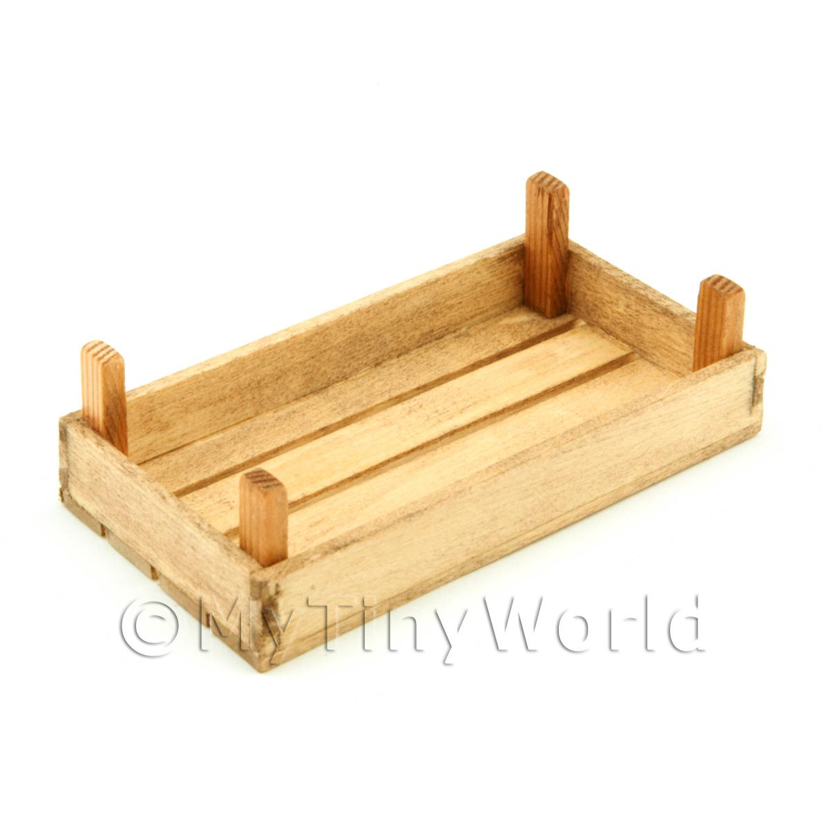 Dolls House Miniature Large Aged Wood Vegetable Crate