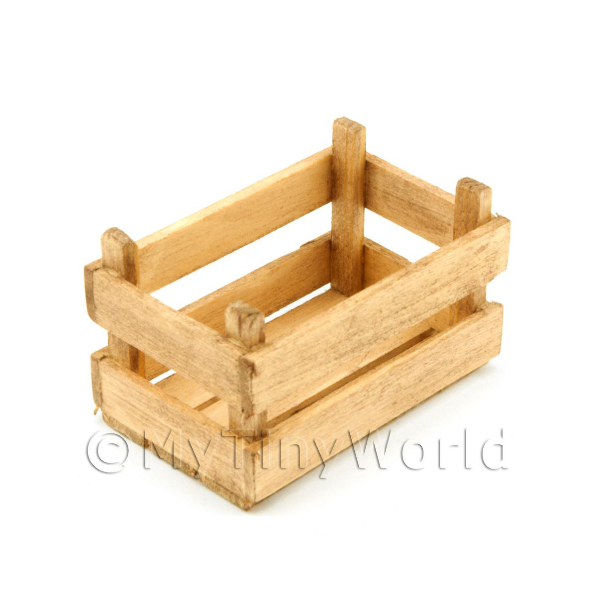 Dolls House Miniature Large Aged Slatted Wood Vegetable Crate