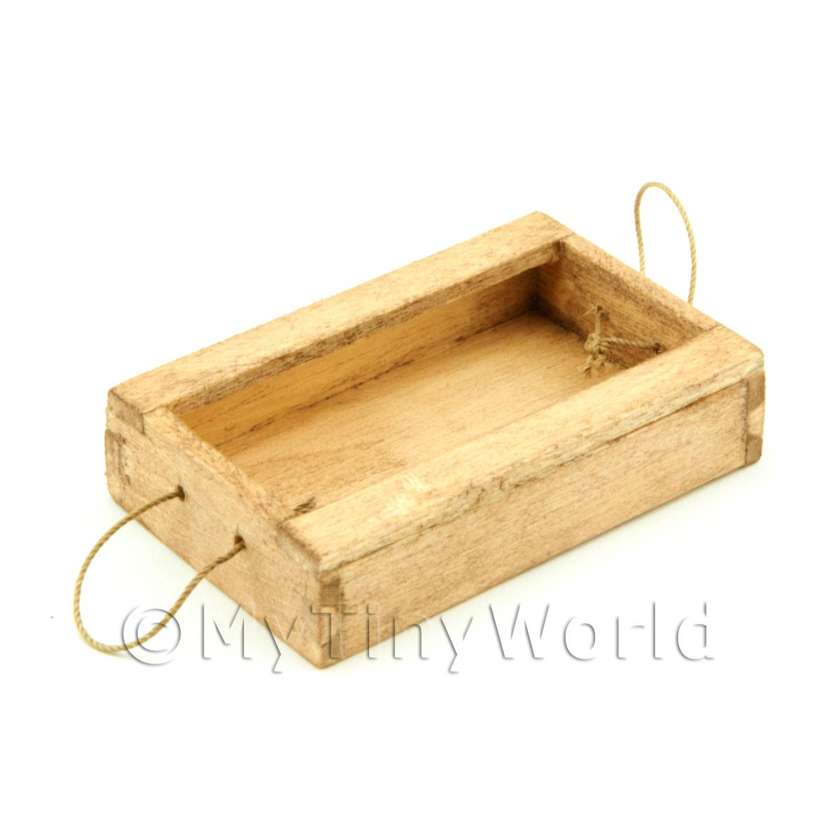 Dolls House Miniature Aged Wood Fish Crate