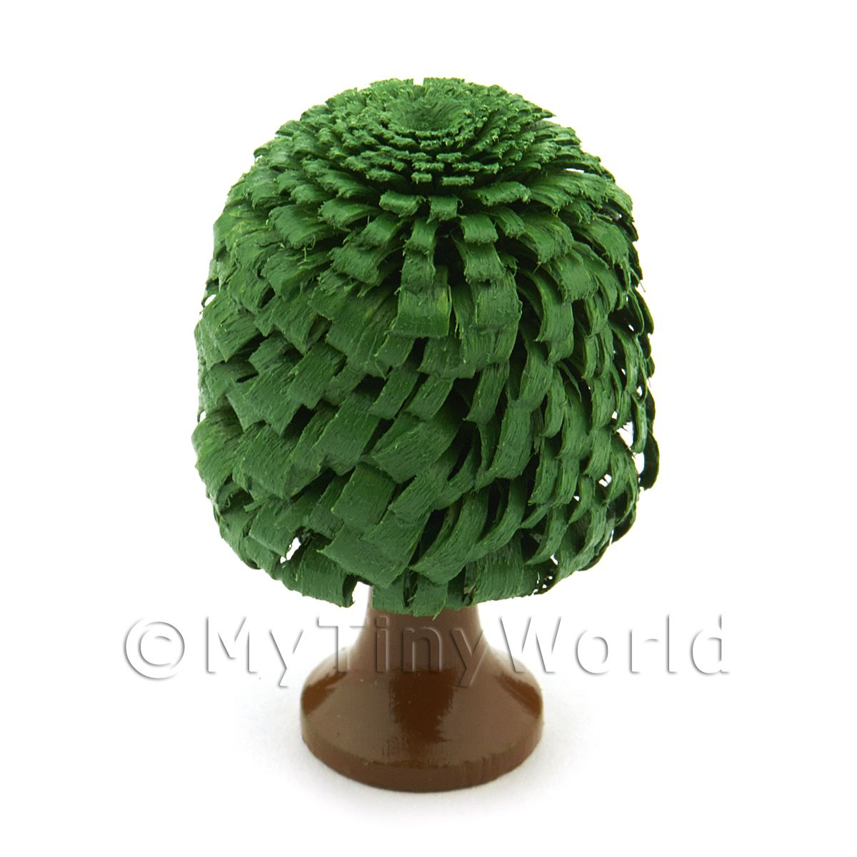 Dolls House Miniature 40mm Classic Shaped Green Tree