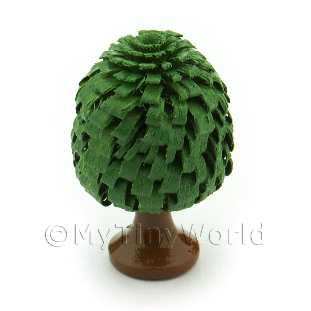 Dolls House Miniature 30mm Classic Shaped Green Tree