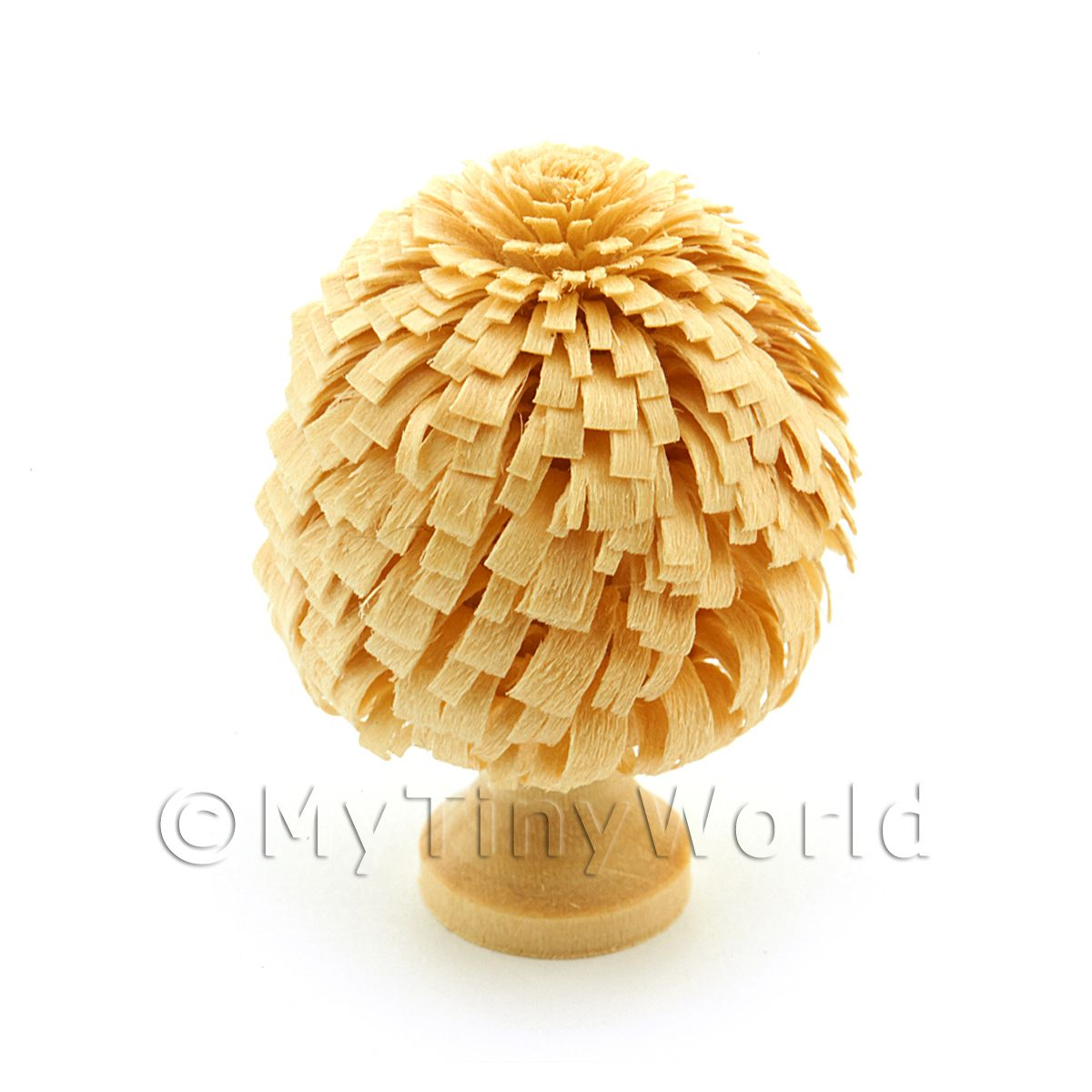 Dolls House Miniature 40mm Classic Shaped Unpainted Tree