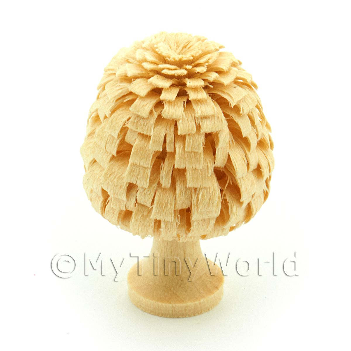 Dolls House Miniature 30mm Classic Shaped Unpainted Tree