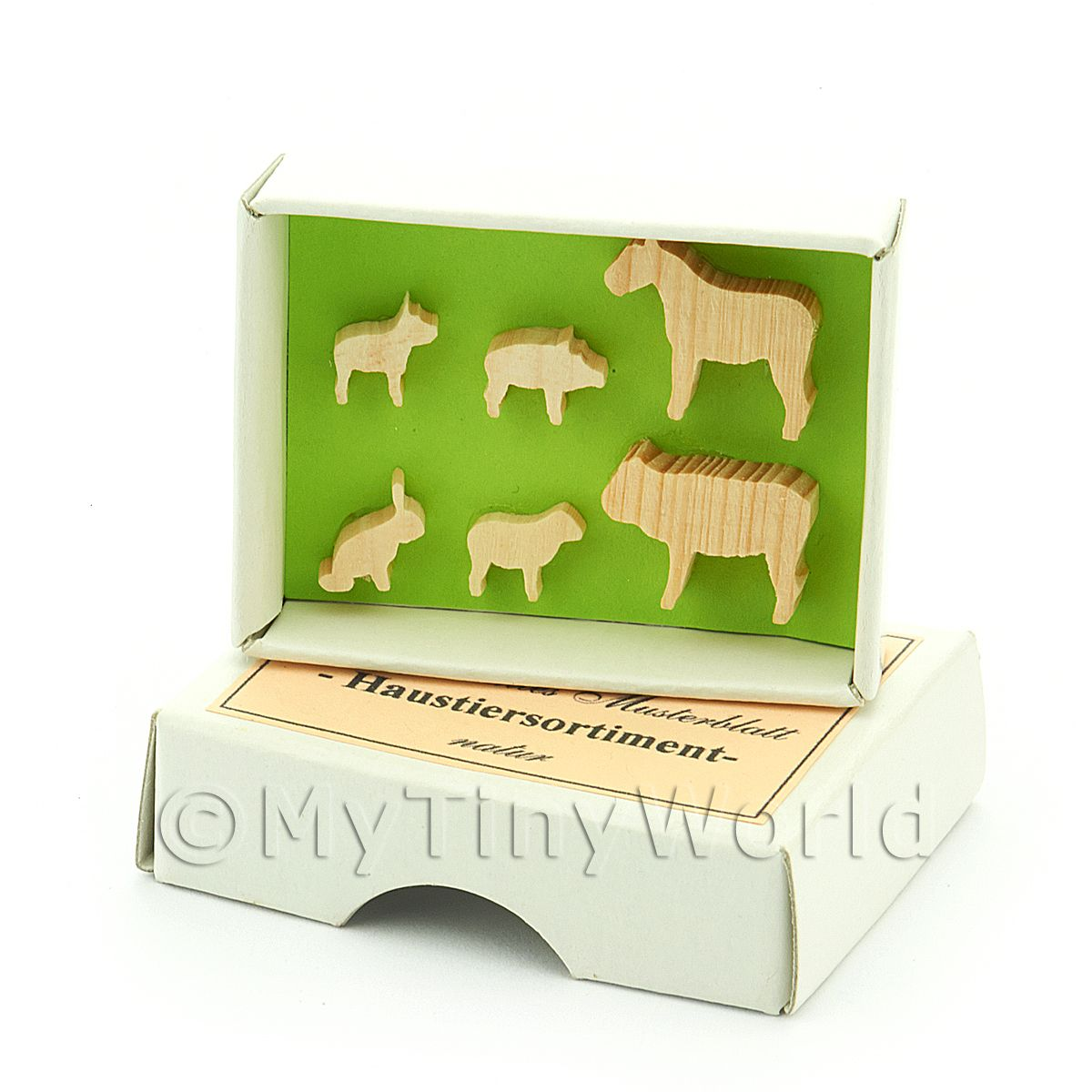 Dolls House Miniature Domestic Animal Wall Chart Unpainted