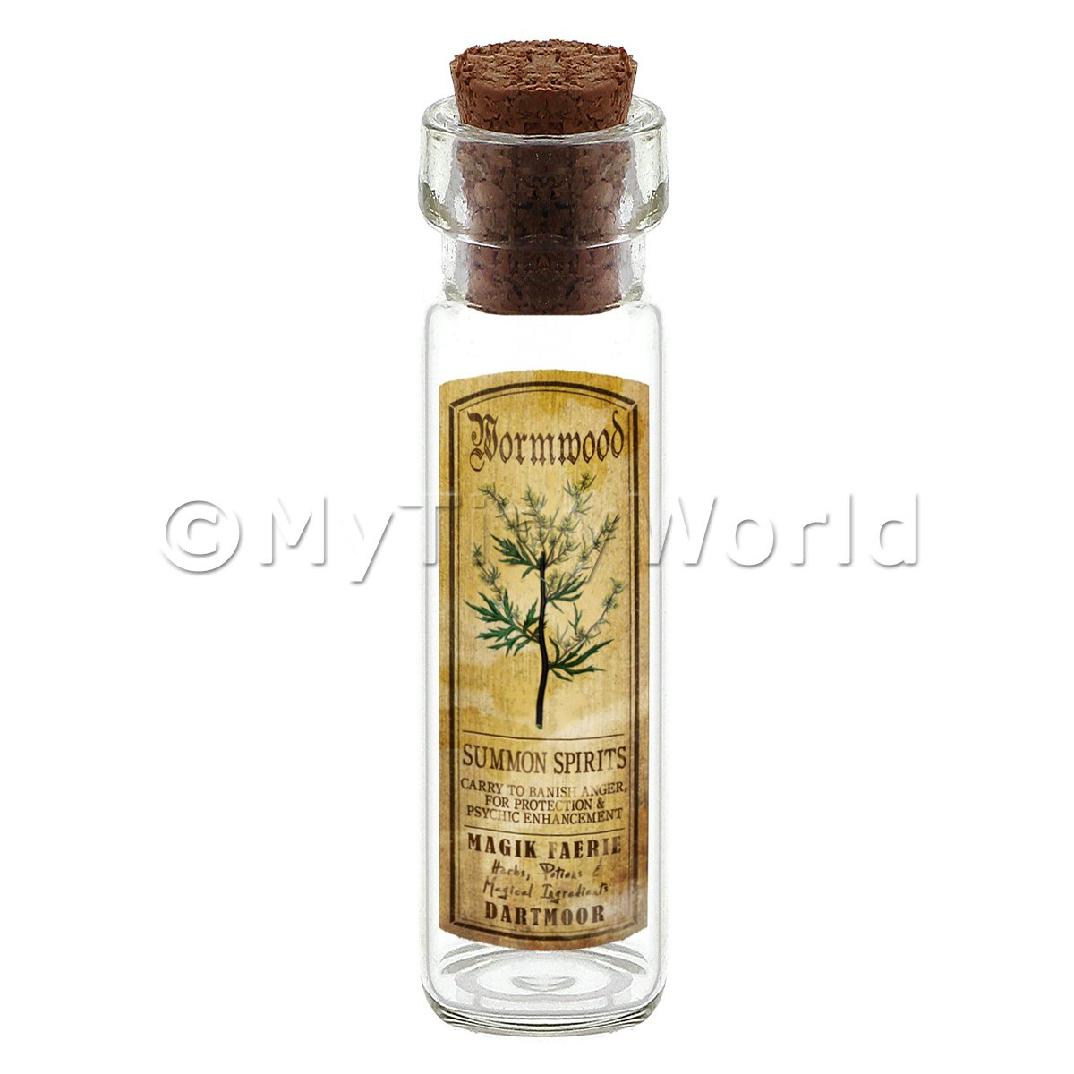 Dolls House Apothecary Wormwood Herb Long Colour Label And Bottle