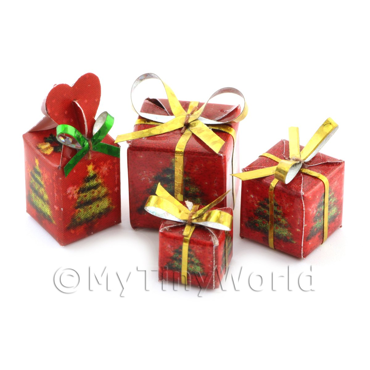 Dolls house Miniature set of 4 Christmas Parcels Style 1