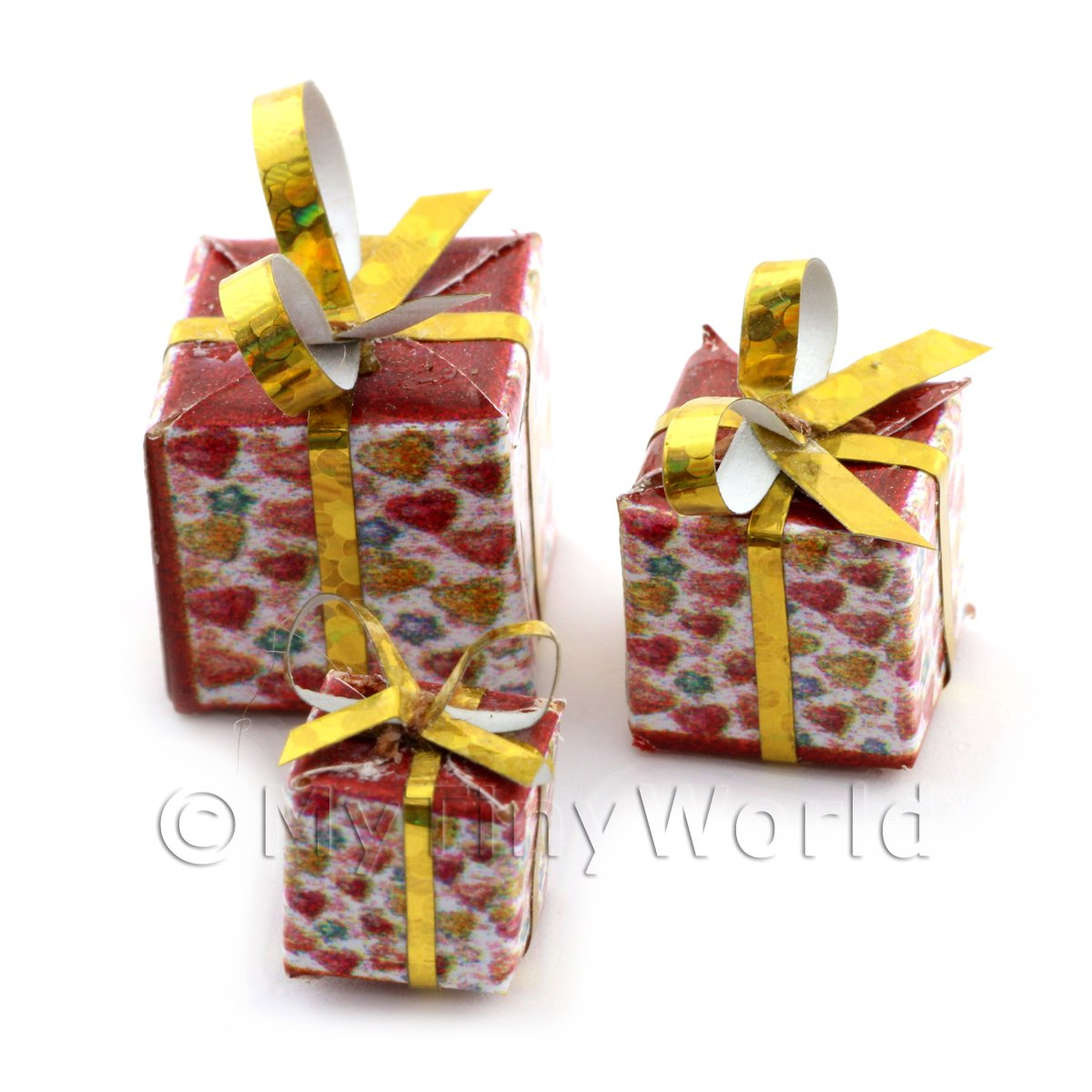 Dolls house Miniature set of 3 Christmas Parcels Style 6