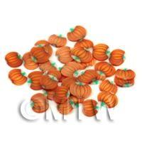 50 Pumpkin Cane Slices - Nail Art (FNS02)