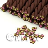 1/12th scale Handmade Triple Fondant Twist Nail Art Cane (FNC05)