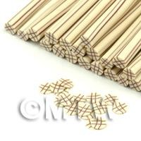 1/12th scale Handmade White Chocolate Lattice Nail Art Cane (FNC08)