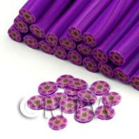 Handmade Purple Flower Nail Art Cane (FNC14)