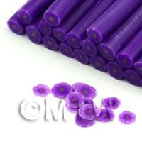 Handmade Purple Flower With Transparent Petals Nail Art Cane (FNC15)