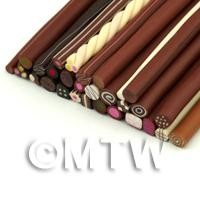 Dolls House Miniature - Set Of 29 Chocolate And Sweet Canes  (SCS01)