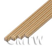 4 x Dolls House Miniature 45cm Wood Cornice / Coving (Style 1)