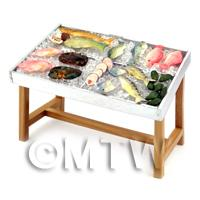 Dolls House Miniature Stocked Fish Counter (FC1)