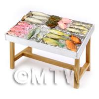 Dolls House Miniature Stocked Fish Counter (FC2)
