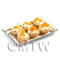 6 Loose Dolls House Miniature  Candied Orange Slice Tarts on a Tray