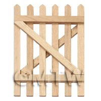 Dolls House Miniature White Wood Picket Gate