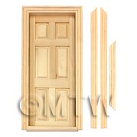 Dolls House Miniature Internal 6 Panel Door
