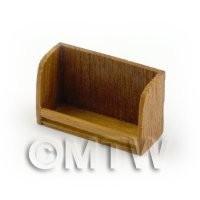 Dolls House Miniature Handmade Single Teak Shelf / Spice Rack