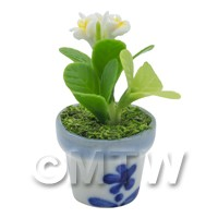 Dolls House Miniature White Plumeria