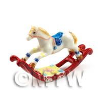 Beautiful Handmade Rocking Horse on Red Rocker Frame