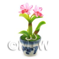 Dolls House Miniature Pink Orchid
