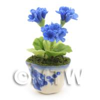 Dolls House Miniature Blue Geranium