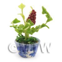 Dolls House Miniature Red Grape Plant