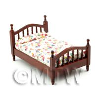 Dolls House Miniature Classic Style Small Single Bed