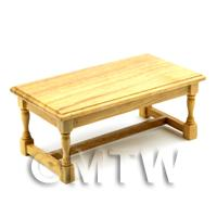 Dolls House Miniature Classic Oak Kitchen Table