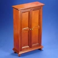 Dolls house Miniature Mahogany Wardrobe
