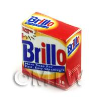 Dolls House Miniature Brillo Cleaning Pads Box