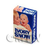 Dolls House Miniature Ivory Snow Washing Powder Box