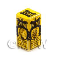 Dolls House Miniature Black And Yellow VIM Box