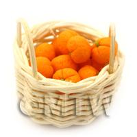 Dolls House Miniature Basket of Handmade Oranges