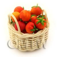 Dolls House Basket of Handmade Tomatoes