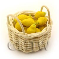 Dolls House Miniature of Hand Made Lemons