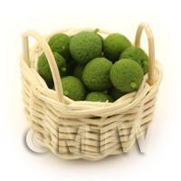 Dolls House Miniature Basket of Hand Made Limes