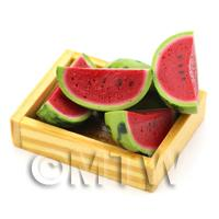 Wooden Crate of Hand Made Water Melon Quarters