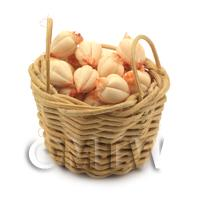 Dolls House Miniature Basket of Handmade Garlic Bulbs
