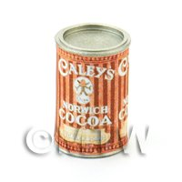 Dolls House Miniature Can Of Caleys Norwich Cocoa Powder