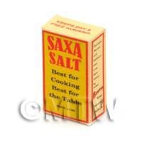 Dolls House Miniature 1940s Saxa Table Salt Box